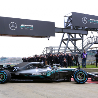 2018 Mercedes F1 Car photos