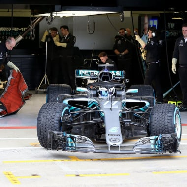 2018 Mercedes F1 W09 chassis