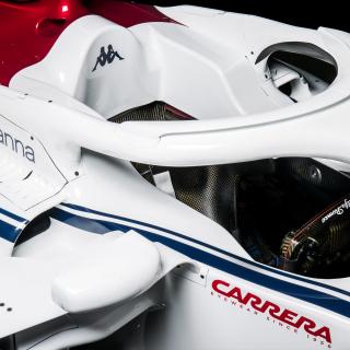 2018 Sauber F1 car - halo design