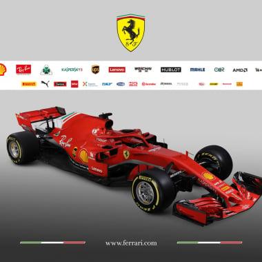 2018 Scuderia Ferrari race car photos