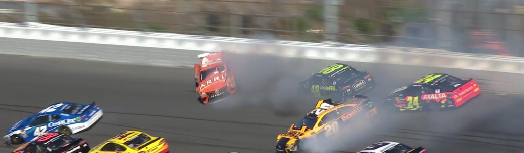 Jimmie Johnson torn up in big 2018 Daytona 500 crash