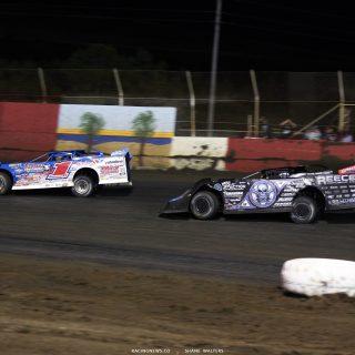 Brandon Sheppard and Scott Bloomquist at East Bay Raceway Park 9266