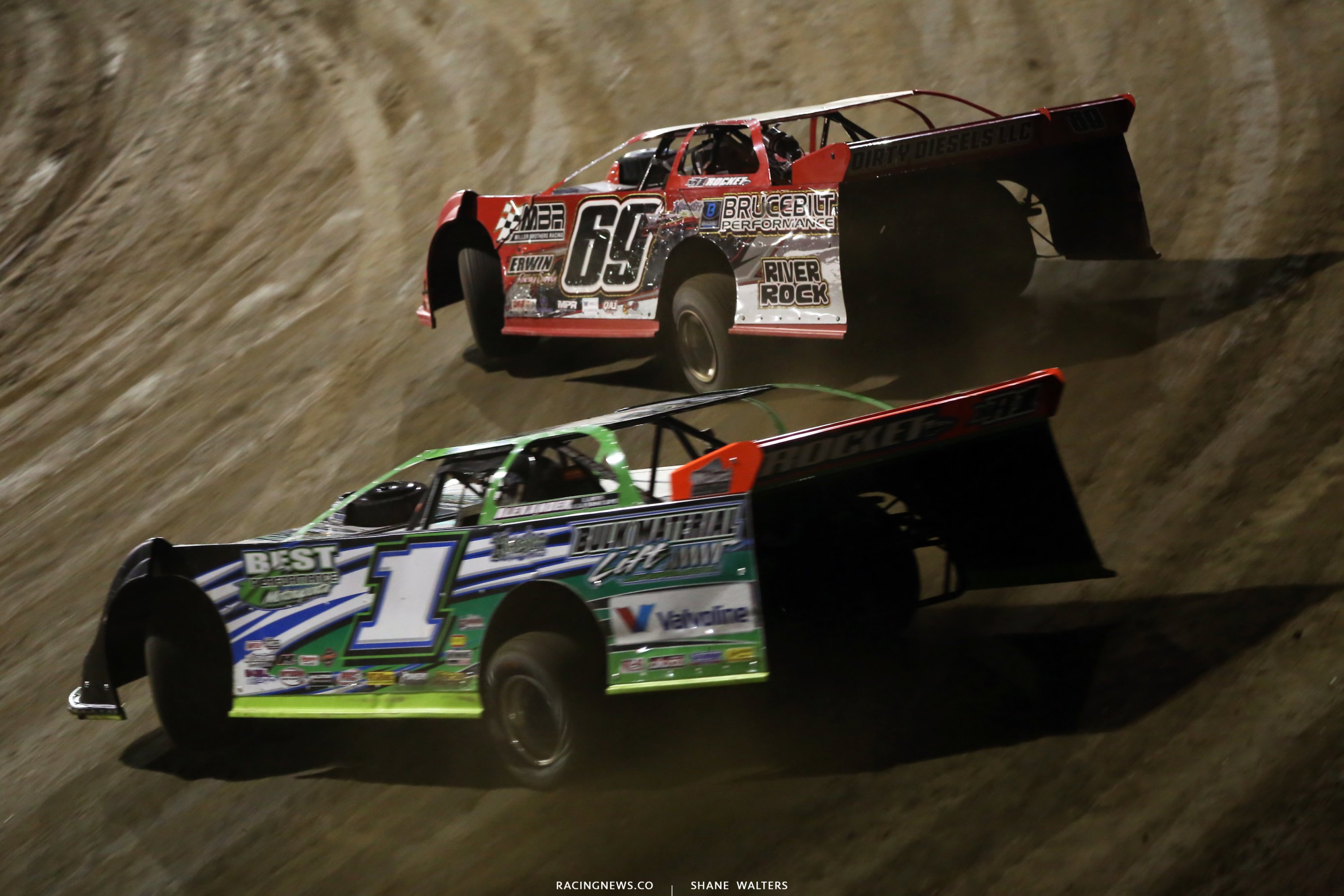 Carder Miller and Josh Richards at East Bay Raceway Park 8106