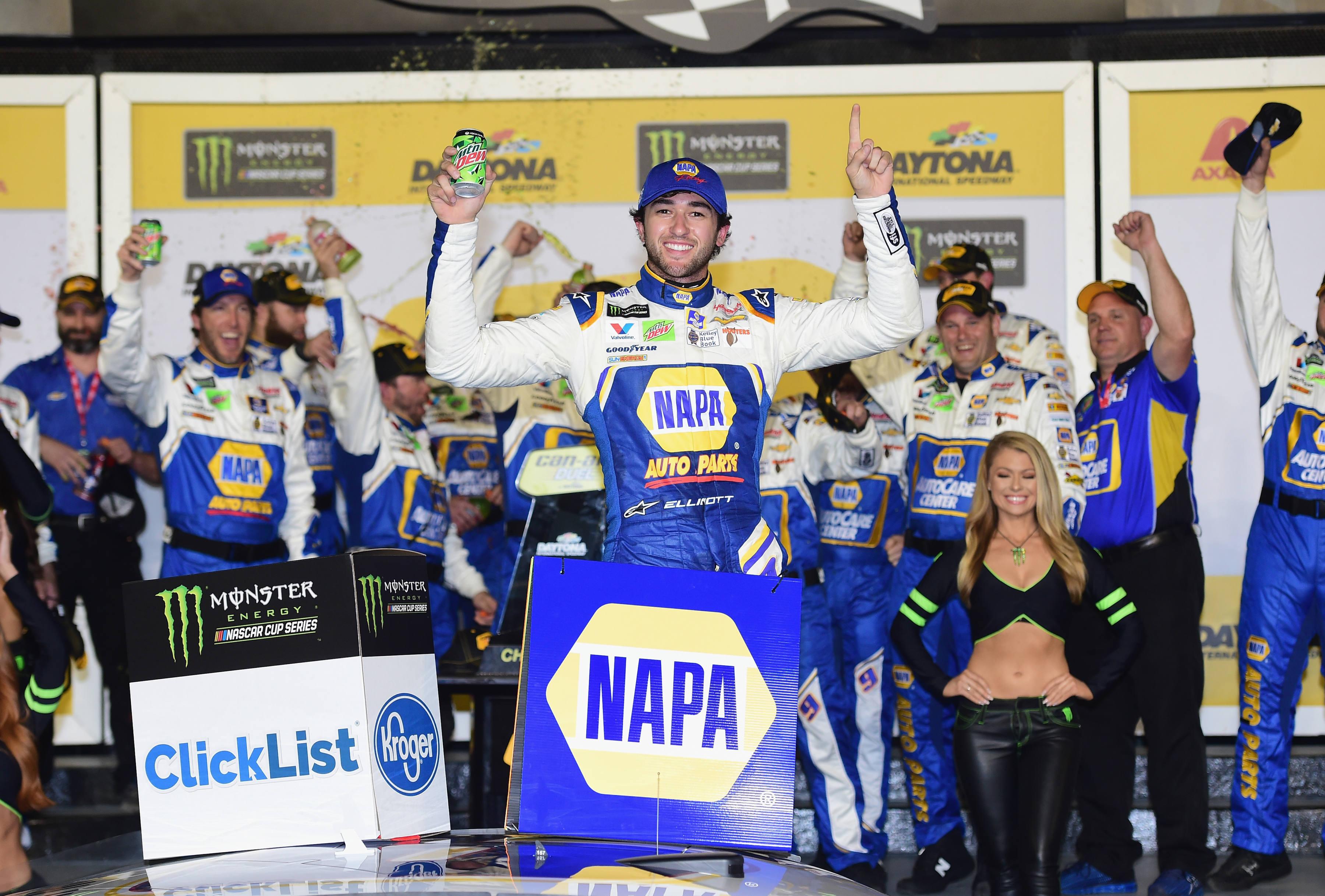 Chase Elliott in Daytona victory lane