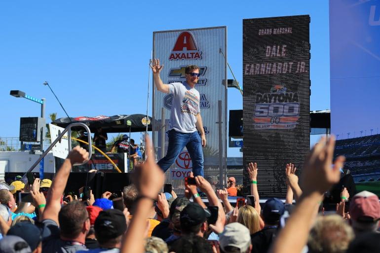 Dale Earnhardt Jr ahead of the 2018 Daytona 500