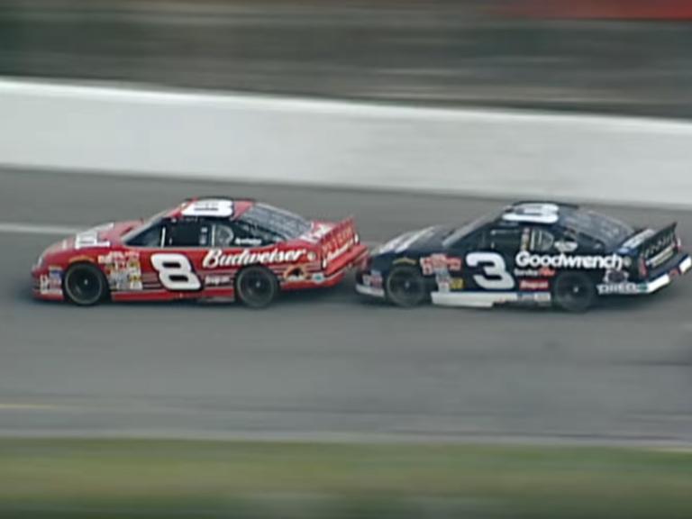 Dale Earnhardt Jr and Dale Earnhardt Sr at Daytona