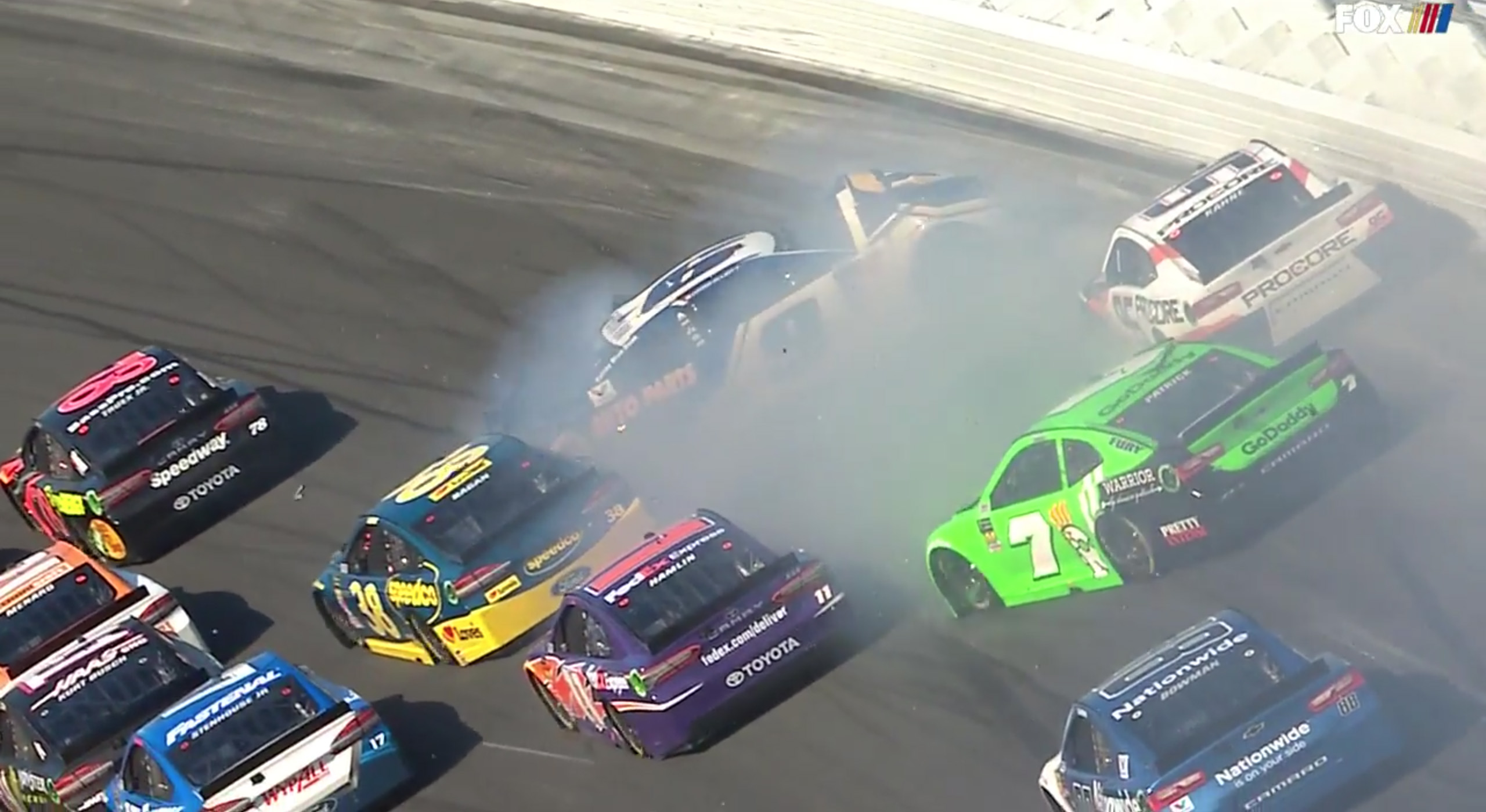 Danica Patrick crashes out of the 2018 Daytona 500