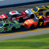 Daniel Suarez, Matt Tifft, Chase Elliott and Justin Allgaier at Daytona