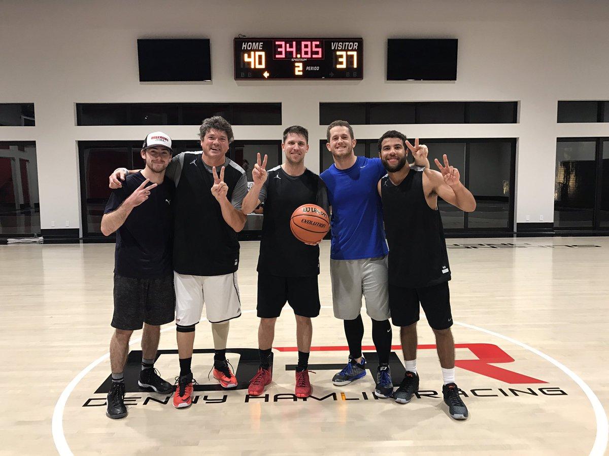 Denny Hamlin basketball league - Bubba Wallace