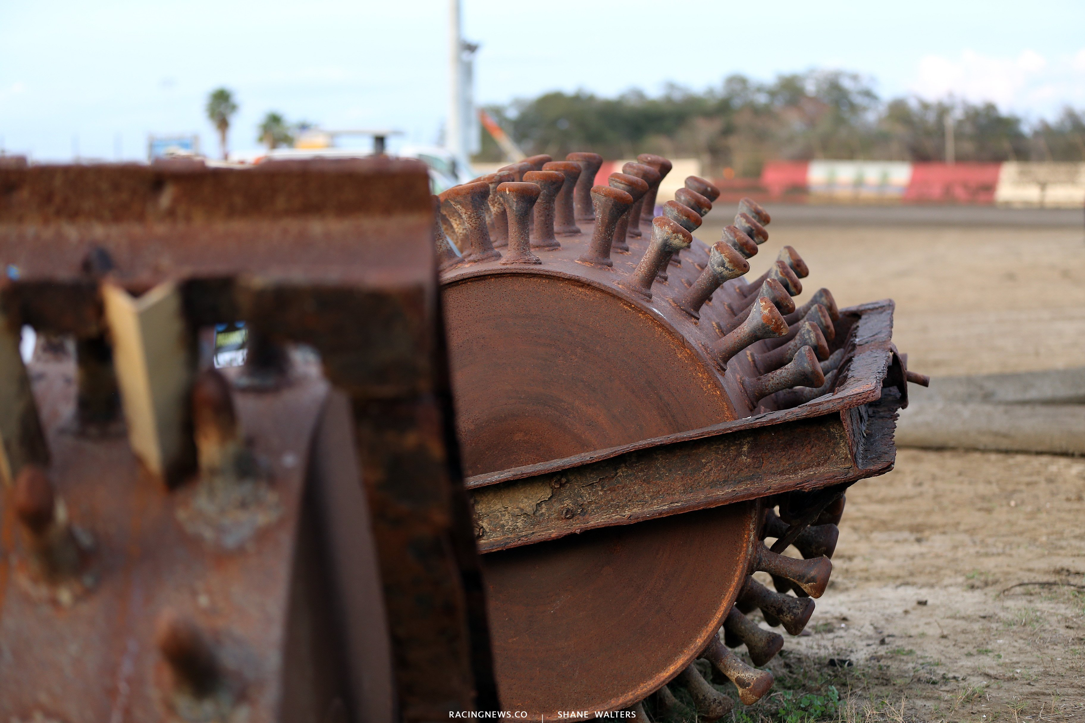 Dirt track prep equipment at East Bay Raceway Park 9845
