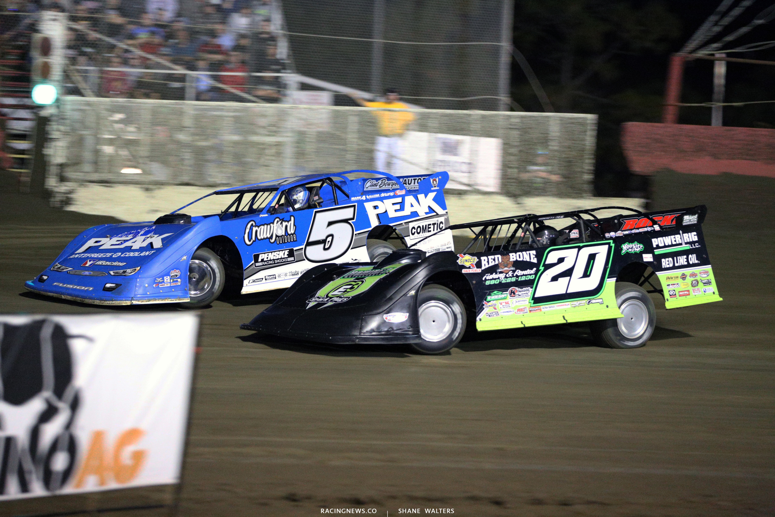 Don O'Neal and Jimmy Owens at East Bay Raceway Park 9095