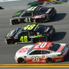 Erik Jones, Jimmie Johnson and Kurt Busch in the Clash at Daytona