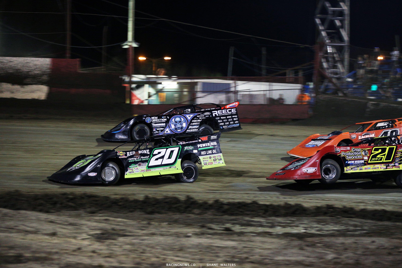 Jimmy Owens, Scott Bloomquist, Billy Moyer Jr and Kyle Bronson at East Bay Raceway Park 9183