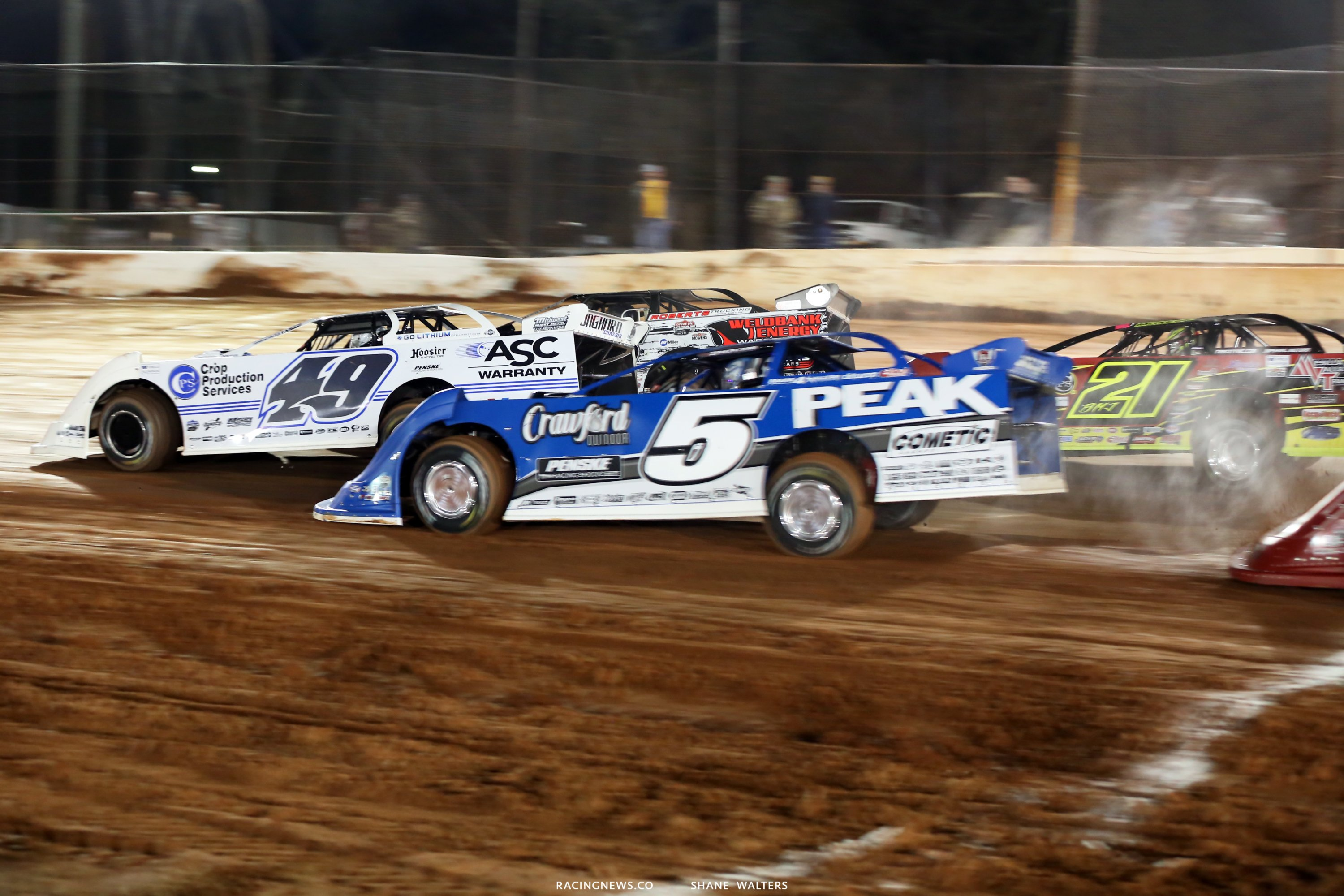 Jonathan Davenport and Don O'Neal at Golden Isles Speedway 6646