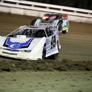 Jonathan Davenport and Josh Richards at Bubba Raceway Park 0791