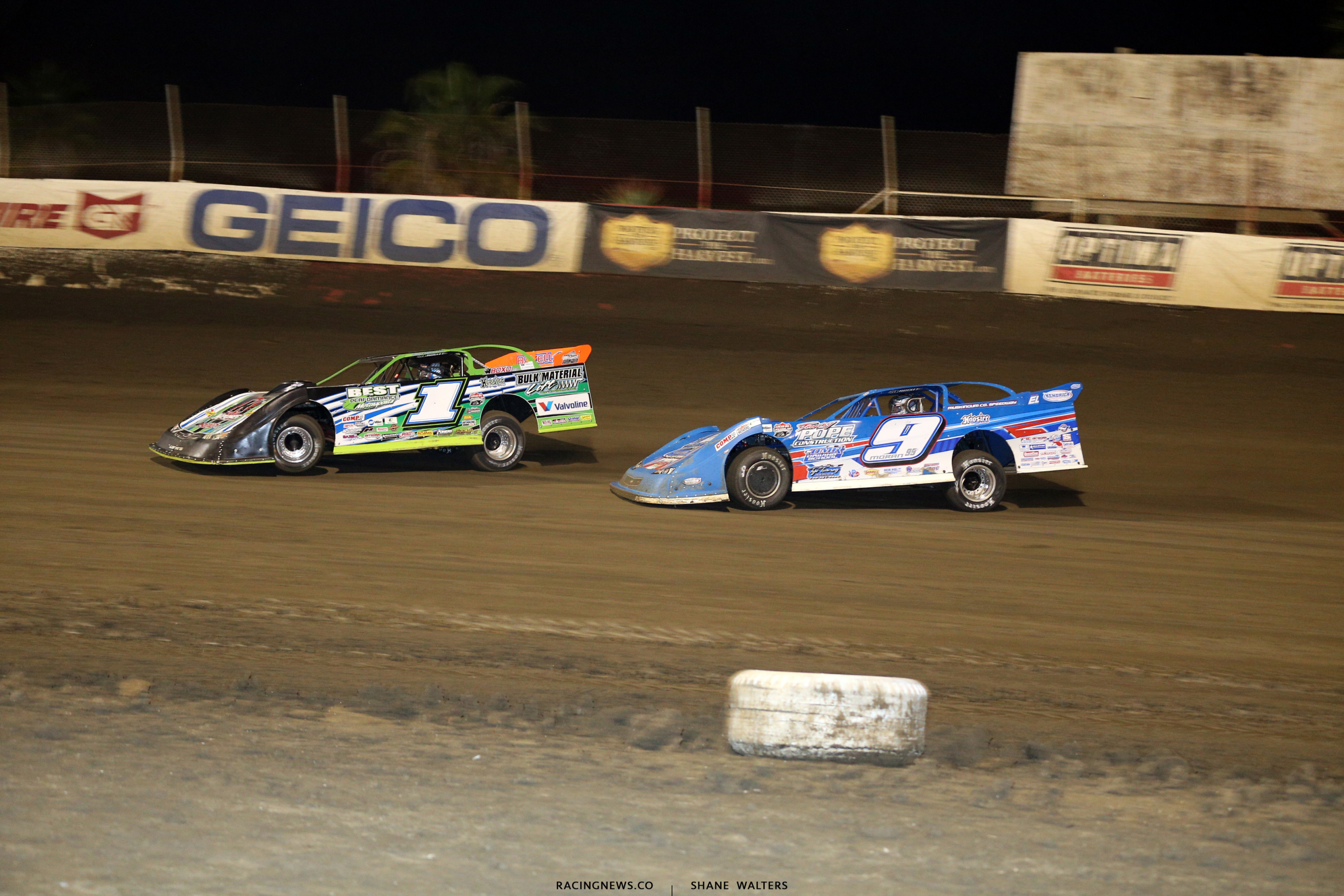 Josh Richards and Devin Moran at East Bay Raceway Park 9929