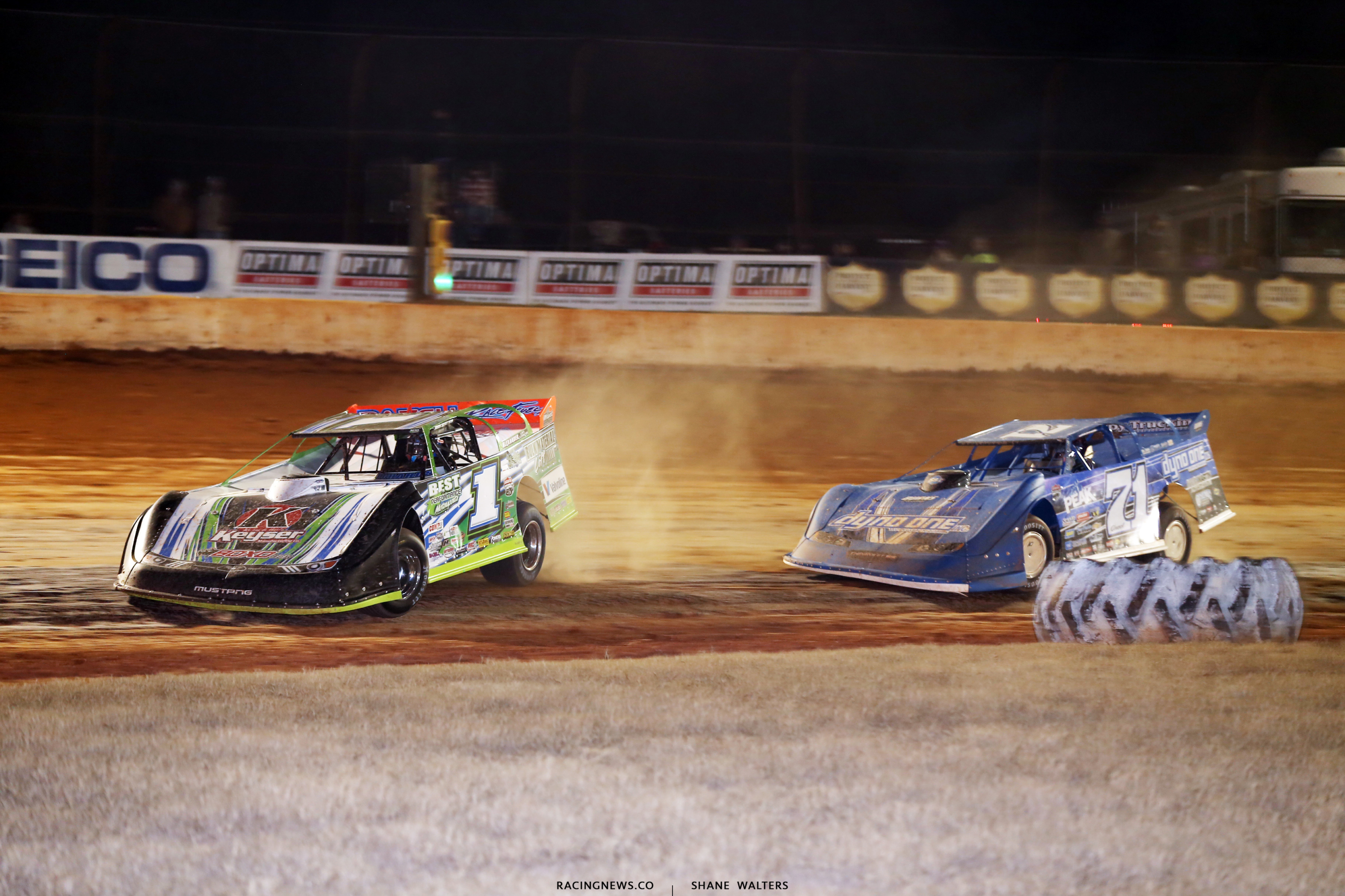 Josh Richards and Hudson o'Neal at Golden Isles Speedway 6943