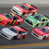 Josh Williams, Just Allgaier, Michael Annett, Matt Tifft and Daniel Suarez at Daytona
