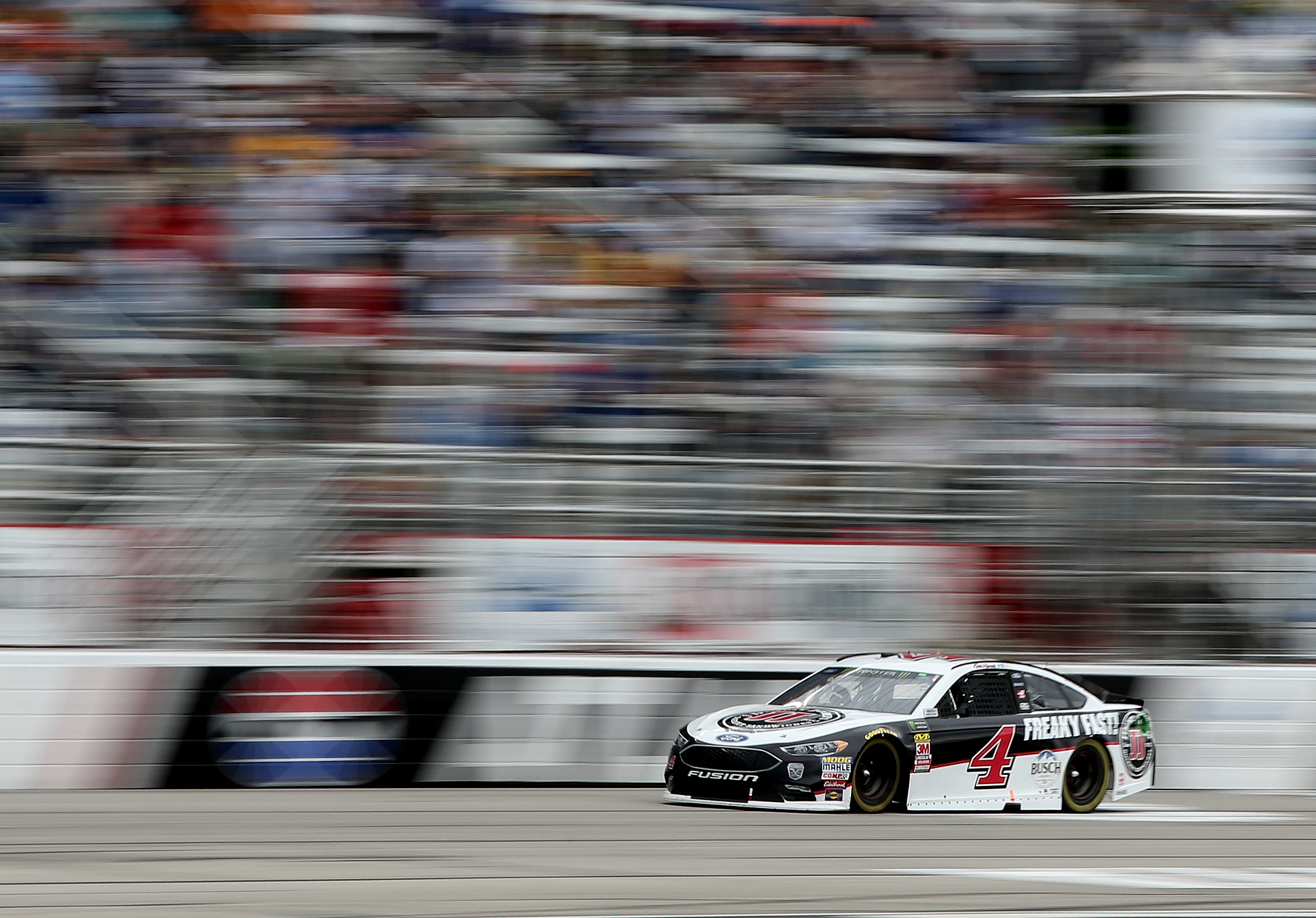 Kevin Harvick at Atlanta Motor Speedway during the 2018 Monster Energy NASCAR Cup Series race