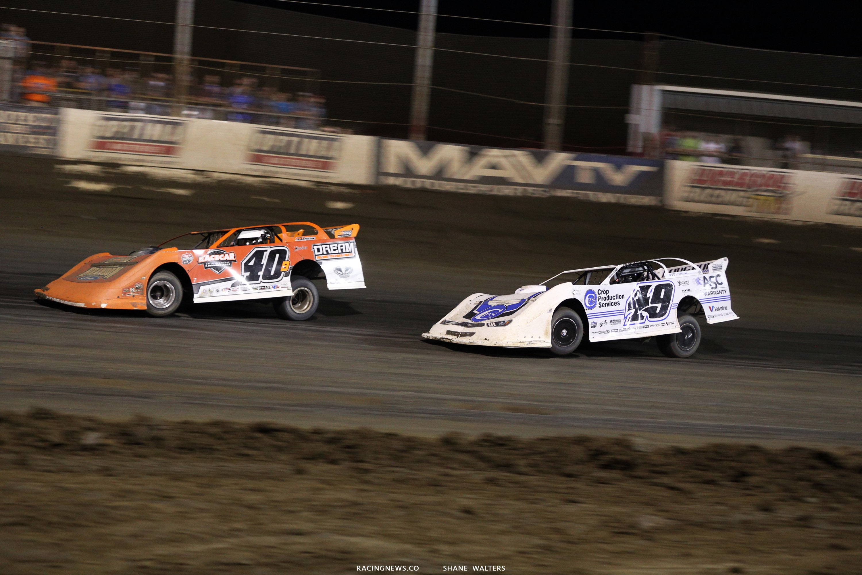 Kyle Bronson and Jonathan Davenport at East Bay Raceway Park 0118