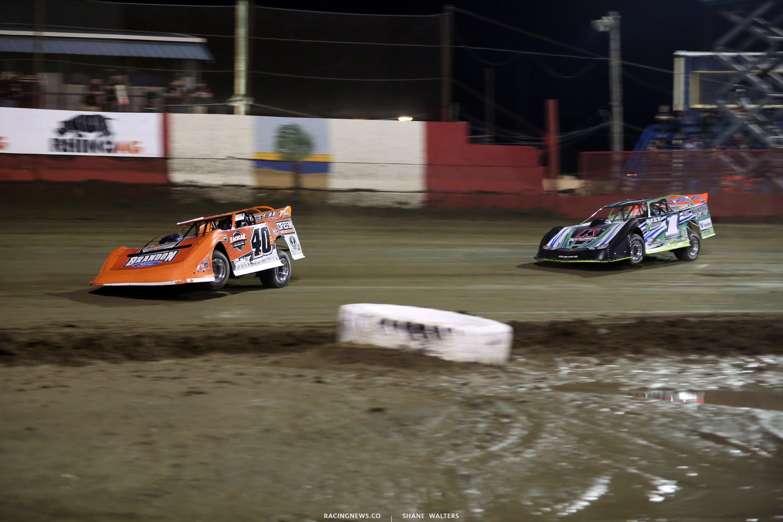 Kyle Bronson and Josh Richards at East Bay Raceway Park 7745