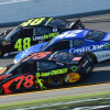 Martin Truex Jr, Kyle Larson and Jimmie Johnson in the 2018 Daytona 500