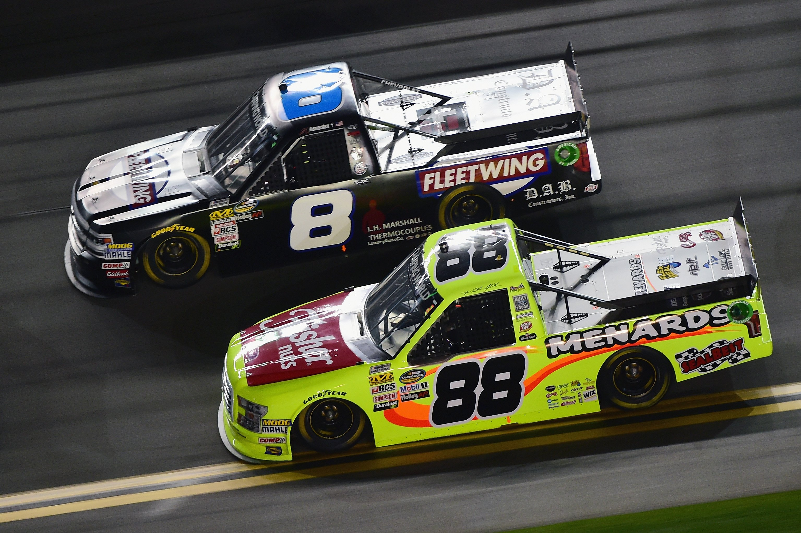 Matt Crafton and John Hunter Nemechek at Daytona International Speedway