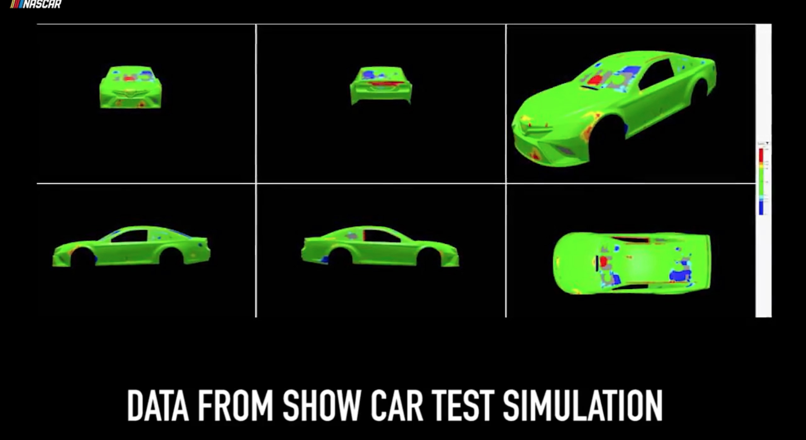 NASCAR inspection data screens
