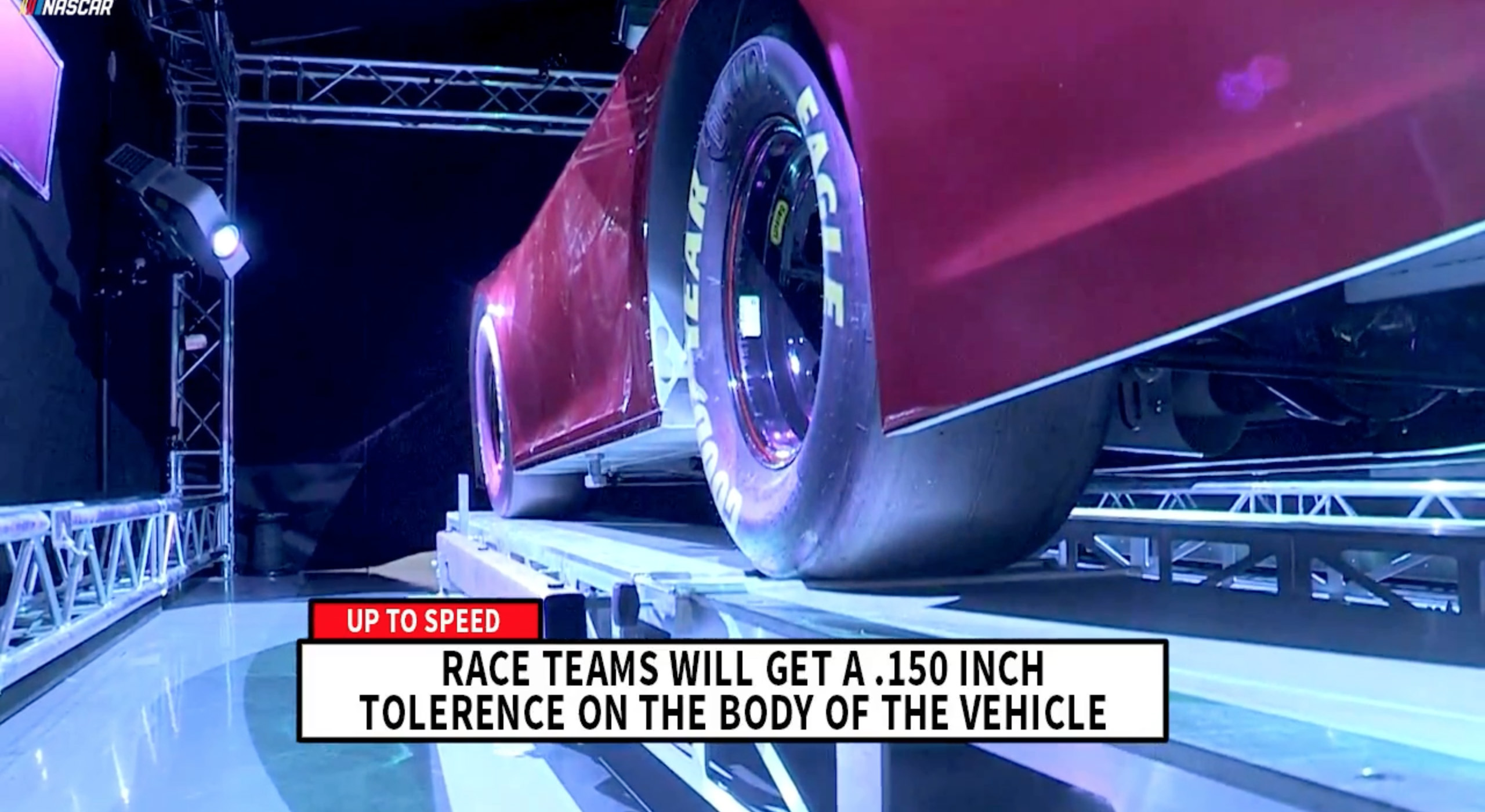 NASCAR laser inspection