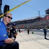 Peyton Manning at the NASCAR race at Bristol Motor Speedway