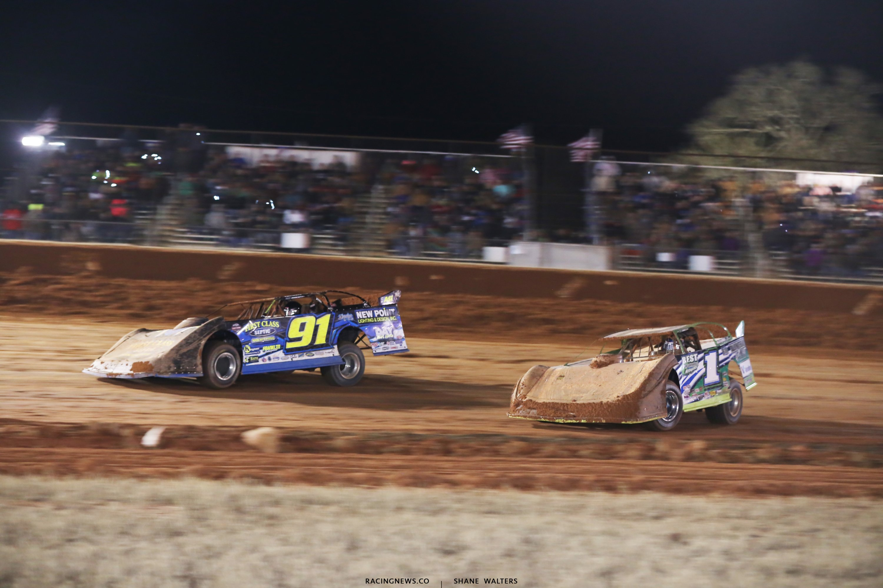 Tyler Erb and Josh Richards at Golden Isles Speedway 7386
