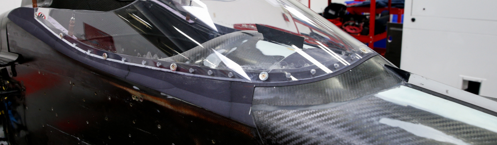 INDYCAR windscreen set for test; Material used on fighter jet canopies