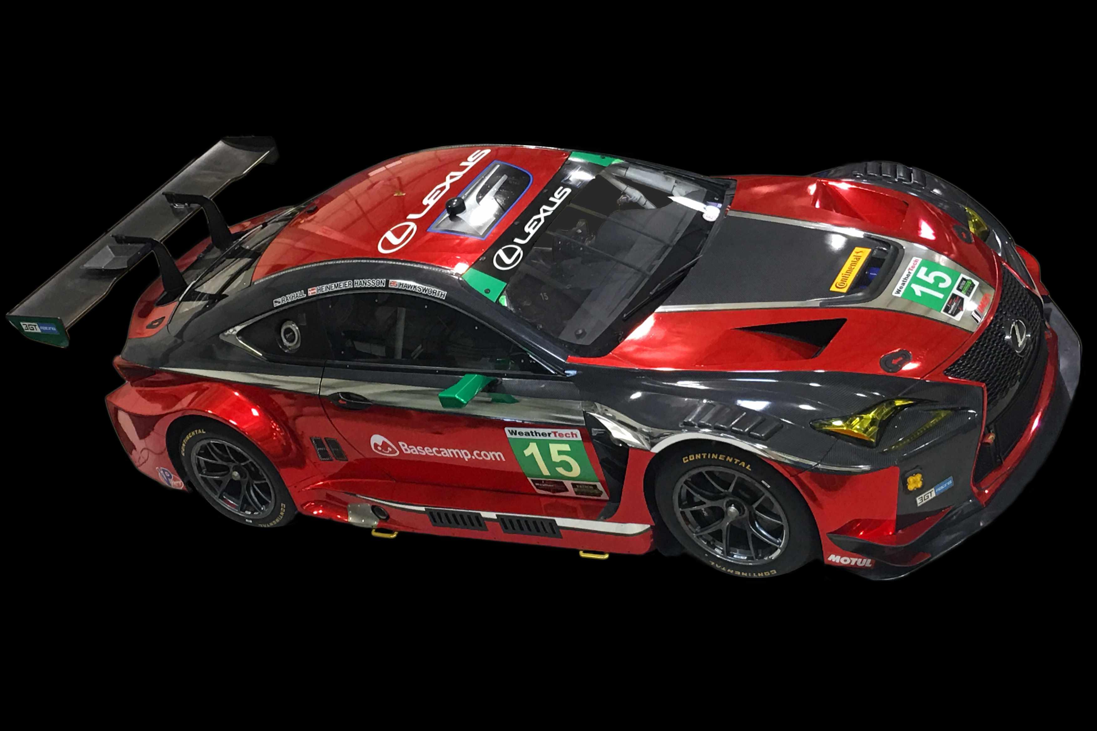15 red Lexus RC F GT3