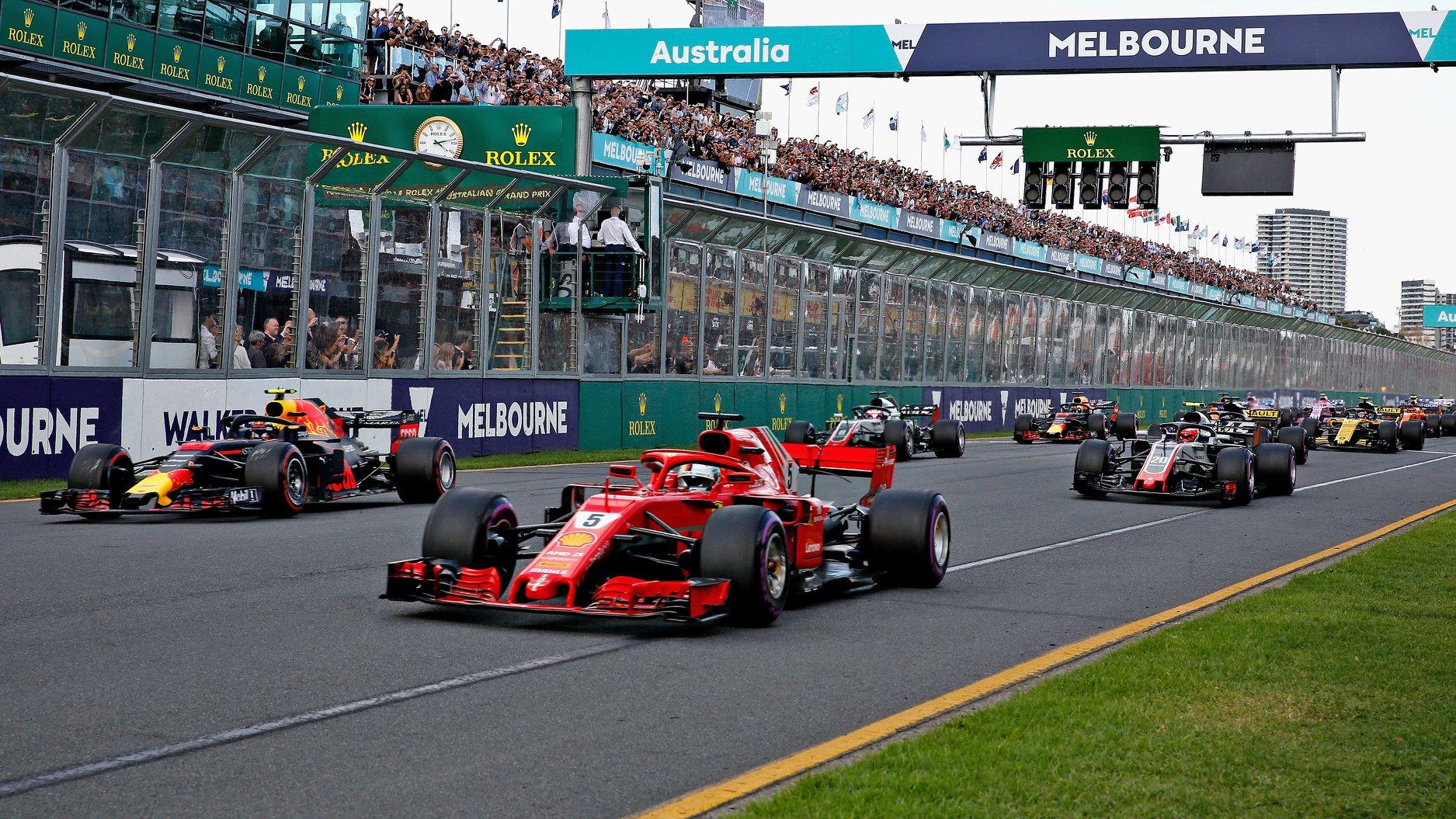 2018 Australian Grand Prix start