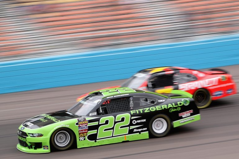 Brad Keselowski and Justin Allgaier at ISM Raceway