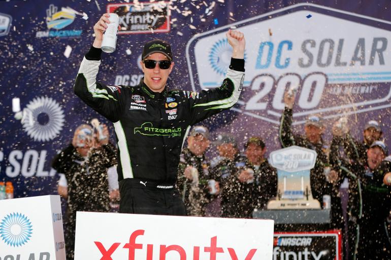 Brad Keselowski in ISM Raceway victory lane - NXS