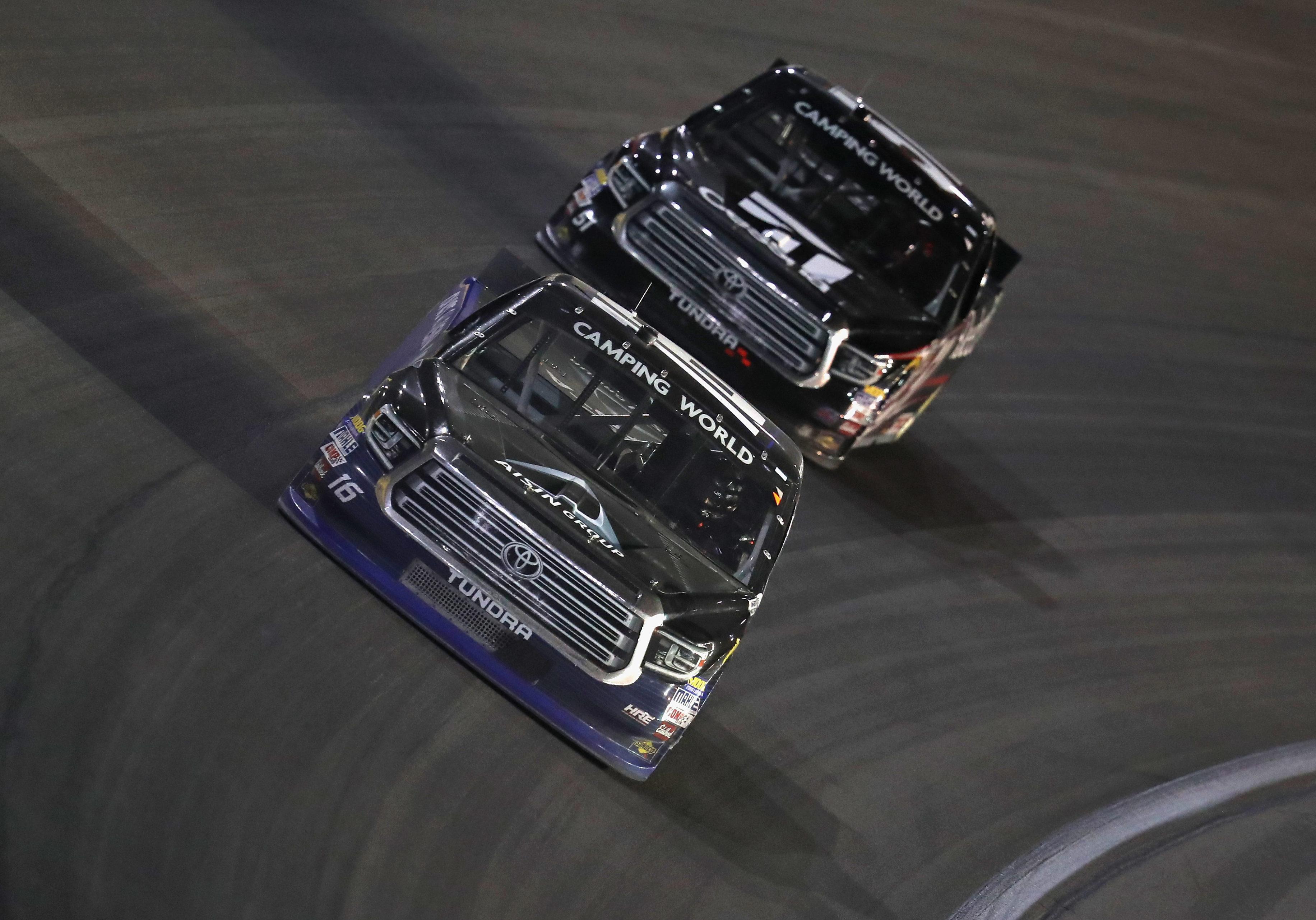 Brett Moffitt and Kyle Busch at Las Vegas - NASCAR Truck Series