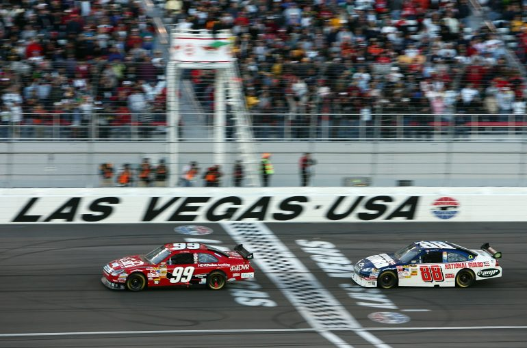 Carl Edwards and Dale Earnhardt Jr at las Vegas Motor Speedway - 2008