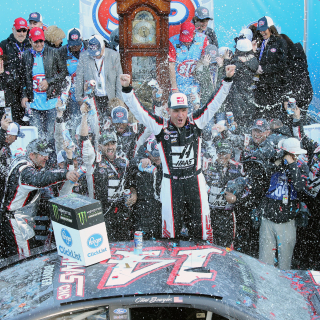 Clint Bowyer and Stewart-Haas Racing in victory lane