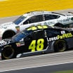 Jimmie Johnson and Clint Bowyer at las Vegas Motor Speedway
