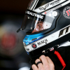 Kevin Harvick puts on his helmet for practice at Martinsville
