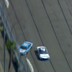 Kevin Harvick wrecks at Auto Club Speedway with Kyle Larson