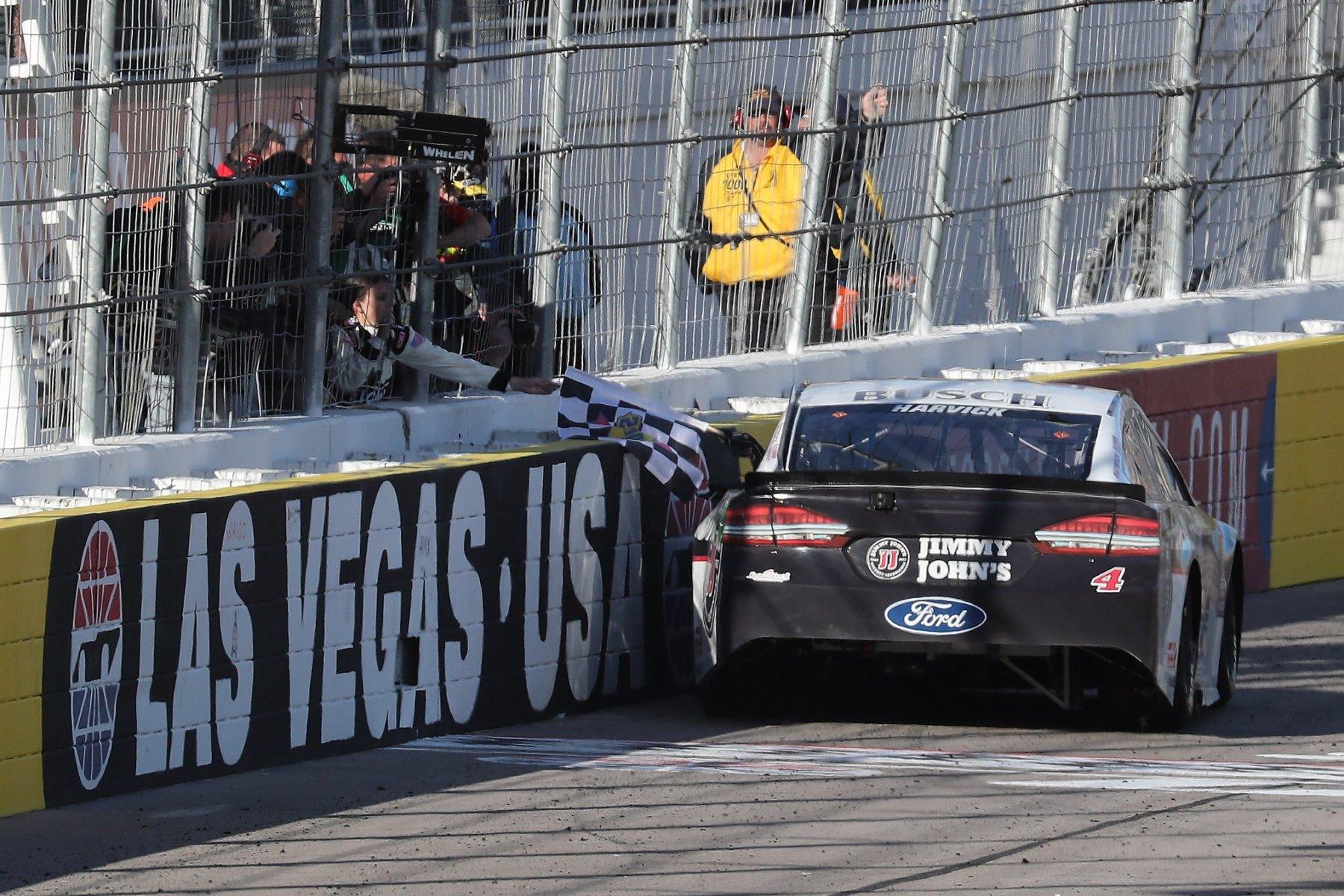 Kevin Harvick's rear window at las Vegas Motor Speedway