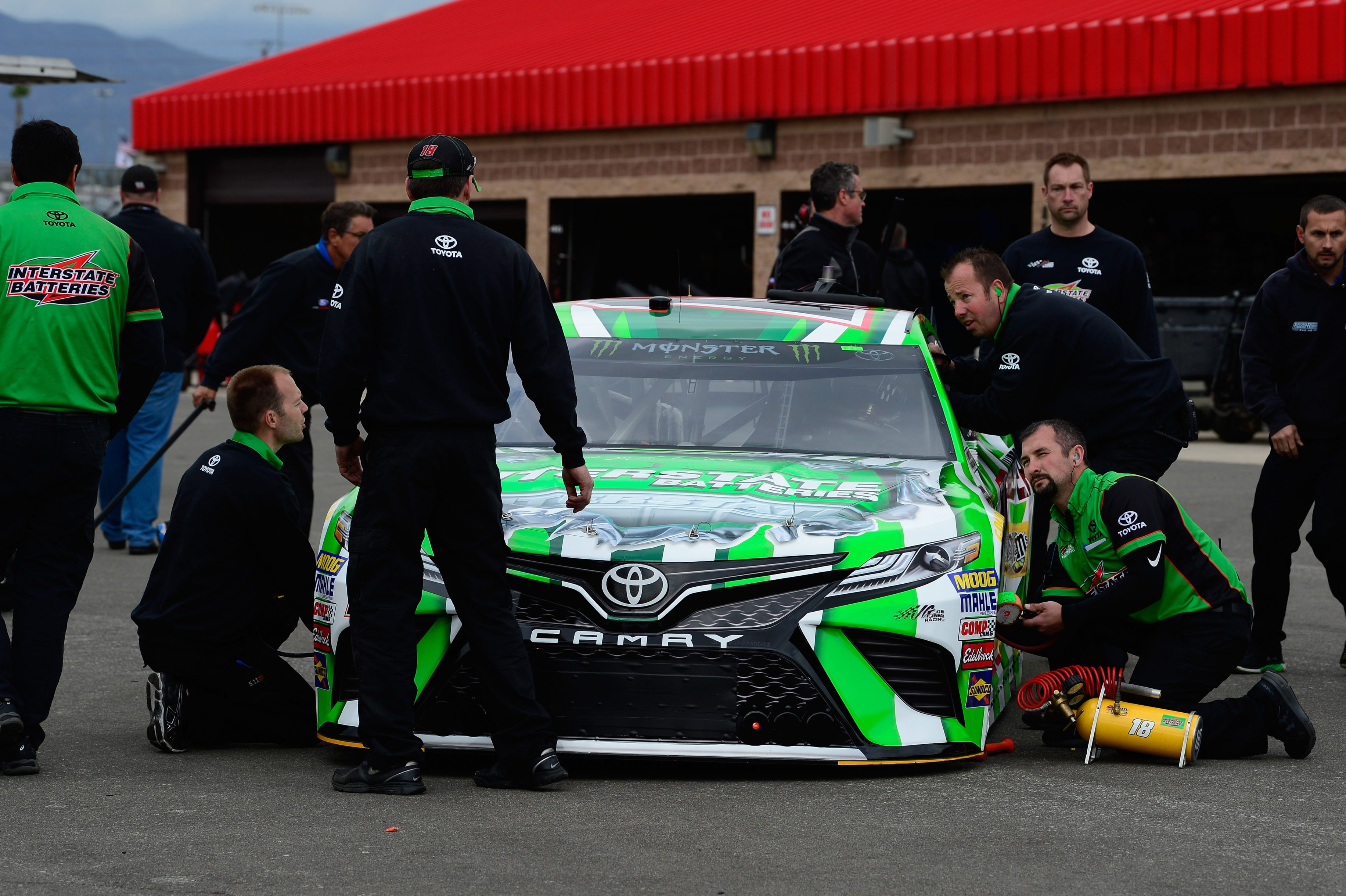 Kyle Busch - NASCAR Inspection at Auto Club Speedway