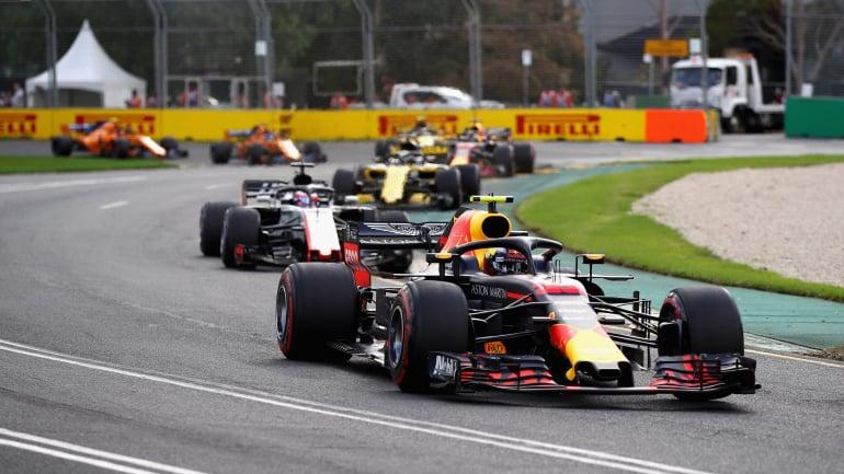 Max Verstappen at the Melbourne Grand Prix Circuit