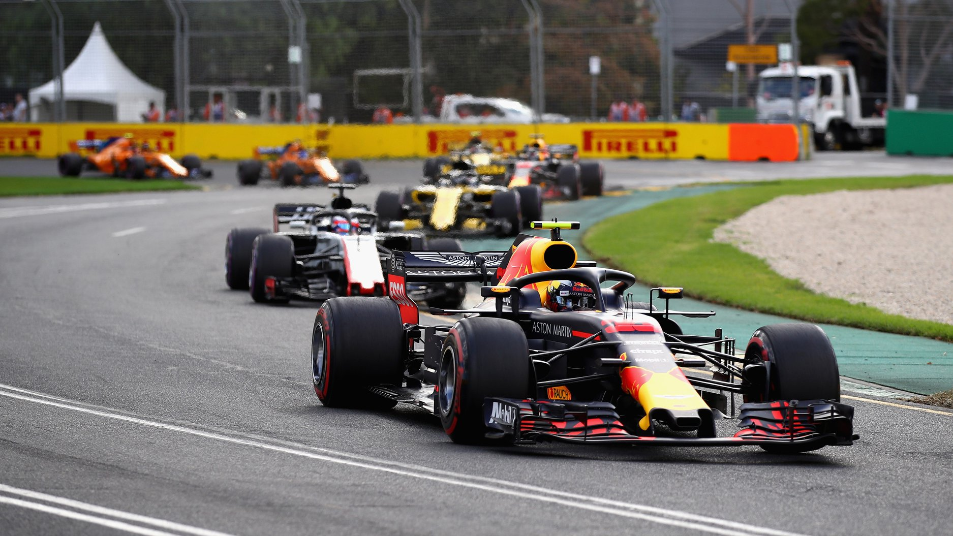Max Verstappen at the Melbourne Grand Prix Circuit