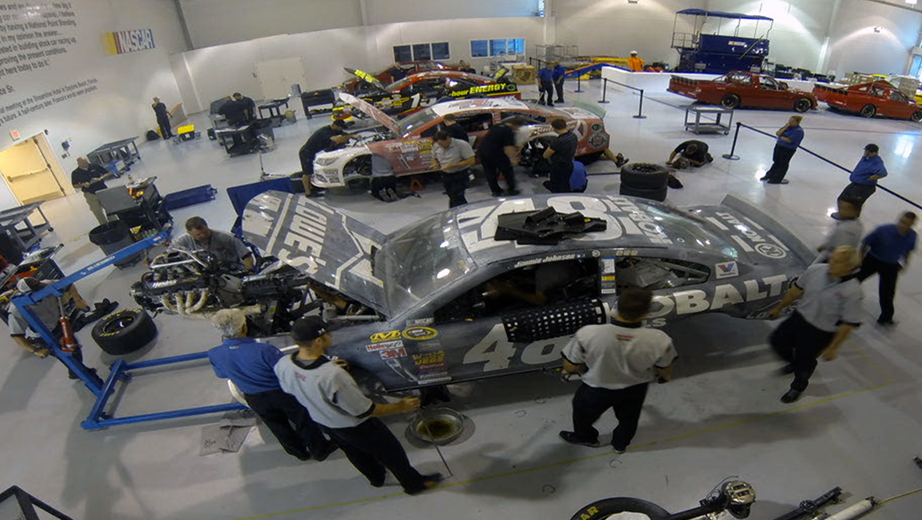 NASCAR Research and Development Center inspection
