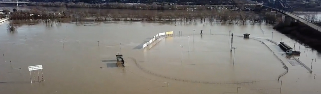 Portsmouth Raceway Park flooded this week from Ohio River crest (Video)