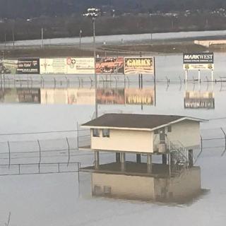Portsmouth Raceway Park flooding photos - 2018