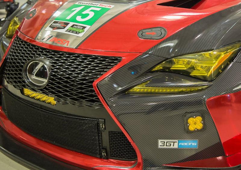 Red Lexus RC F - IMSA GT3